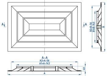 Решетка прямоугольная