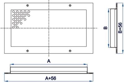 Решетка перфорированная потолочная