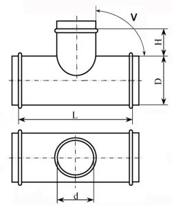 Тройник тип 1
